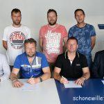 Hoofdsponsoren V.V Noordscheschut tekenen sponsorcontract