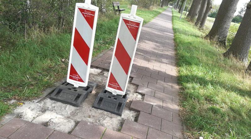Vernielingen op fietspad Krakeelse dijk