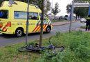 Galileilaan, fietsster geschept door personenauto