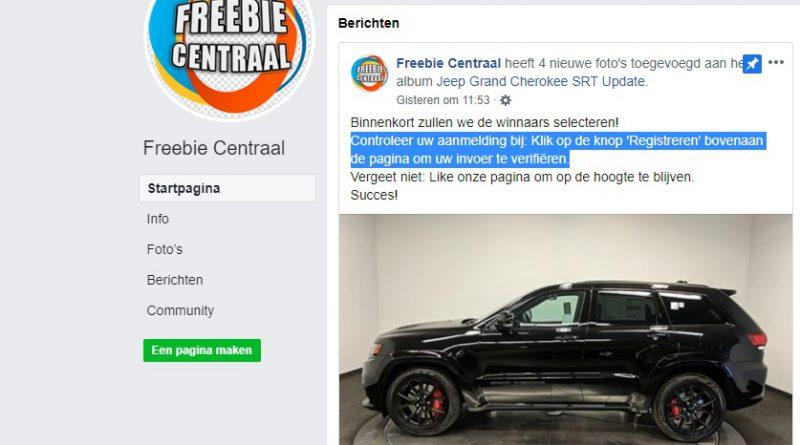 """Pas op voor """"win een Jeep""""-actie op Facebook"""