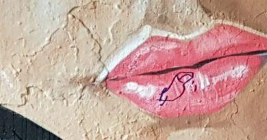 Graffiti kunstwerk Dylano besmeurd