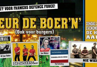 Busvervoer vanuit Hoogeveen voor benefietconcert Farmers Defence Force