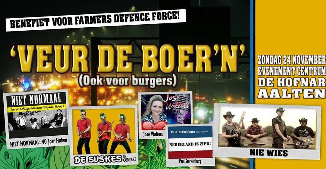 Busvervoer vanuit Hoogeveen voor benefietconcert Farmers Defence Force - Regionieuws Hoogeveen