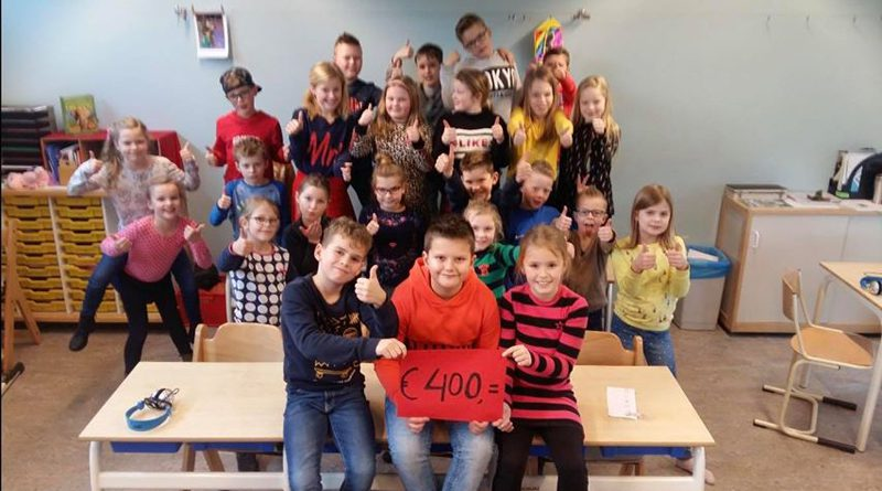Onwijs goede actie van leerlingen groep 5 De Regenboog in Hoogeveen
