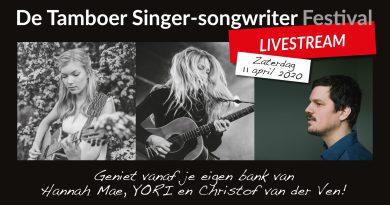 De Tamboer streamt singer-songwriter festival voor thuisblijvers