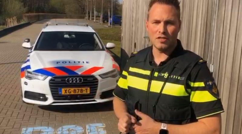 Team Verkeer Noord-Nederland daagt kinderen uit om te stoepkrijten
