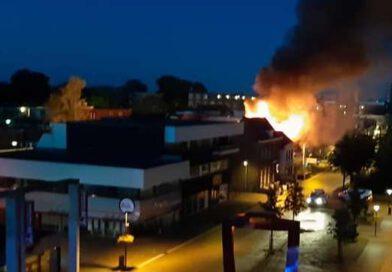 Grote brand centrum Hoogeveen