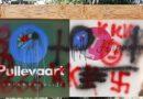 Verontwaardiging in Elim om besmeuren reclamebord met hakenkruis