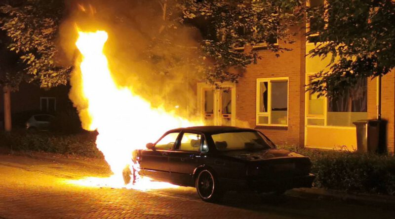 Jaguar verloren door brand