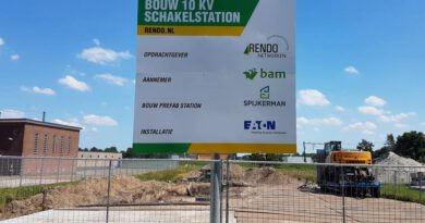Nieuwbouw 10 kilovolt schakelstation Toldijk