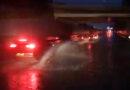 Wateroverlast op A28 bij Hoogeveen 1 rijstrook afgesloten